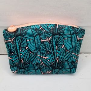Ipsy July Bag Floral Print Green Pink 5/$25